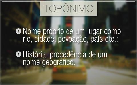 Topônimos