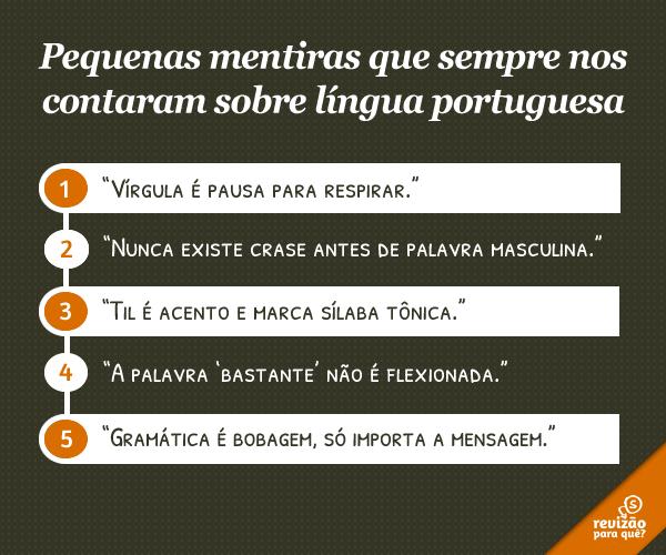 Mentiras sobre língua portuguesa