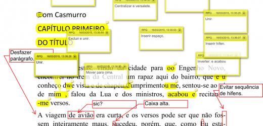 Revisão em PDF usando balões e caixas de texto
