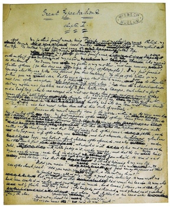 Manuscrito Charles Dickens