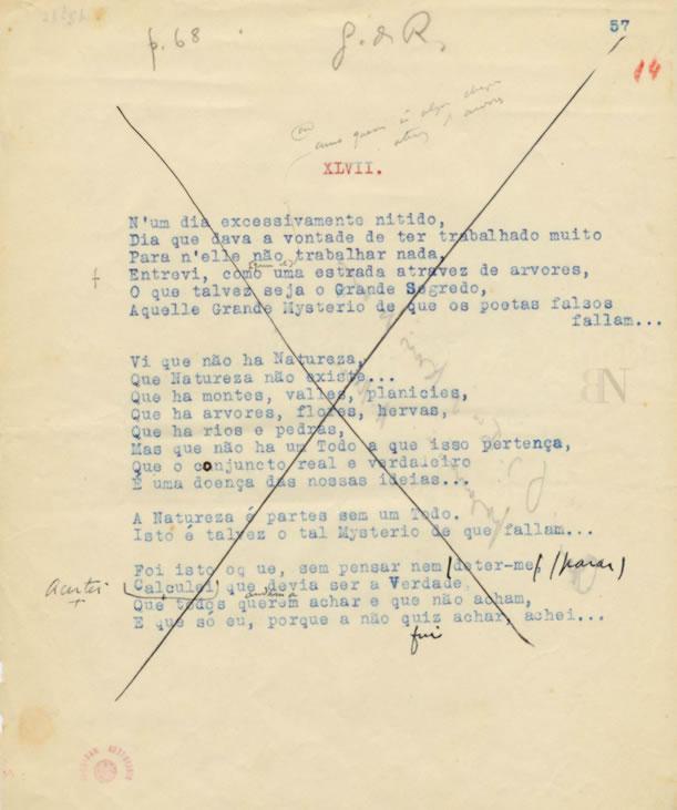 Manuscrito Fernando Pessoa