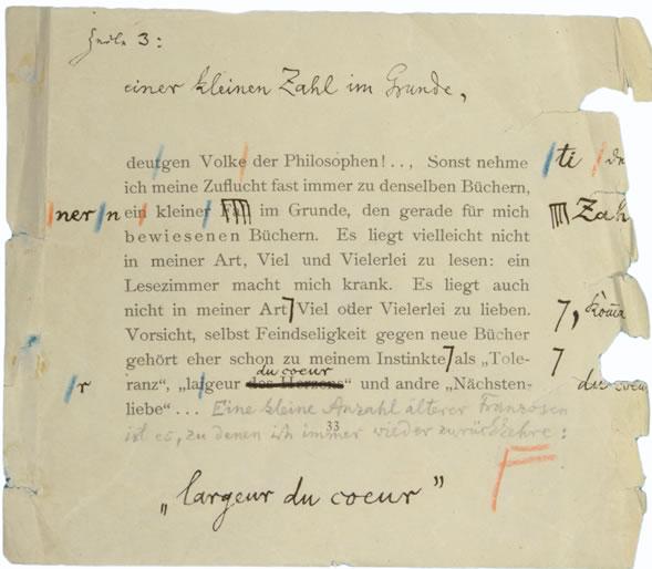 Manuscrito Nietzsche