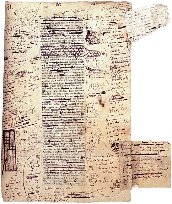 Revisão nos originais de Balzac