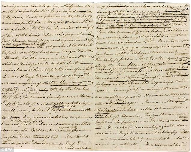 Manuscrito Jane Austen